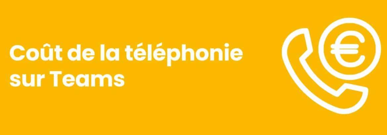 Coût de téléphonie Teams