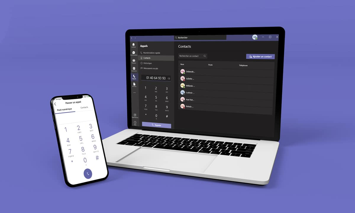 Téléphonie Teams sur PC/Mac et Smartphone
